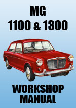 MG 1100 and 1300 Workshop Repair Manual
