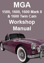 MGA 1500, 1600, 1600 MKII & 1600 Twin Cam Workshop Repair Manual