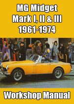 MG Midget MKI, MKII & MKIII Workshop Repair Manual